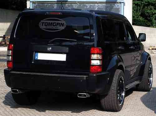 TOMGAN 2-speed trapezium sport exhaust Dodge Nitro stainless steel
