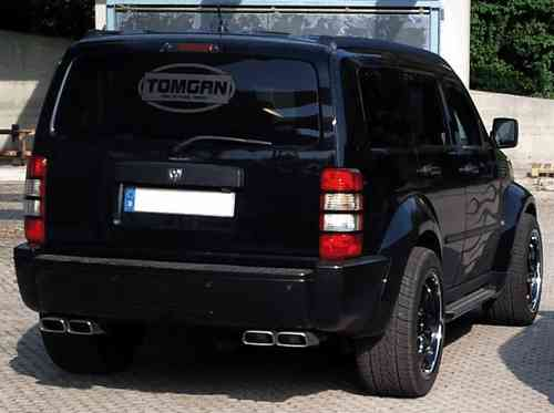 TOMGAN 4-speed trapezium sport exhaust Dodge Nitro made of stainless steel